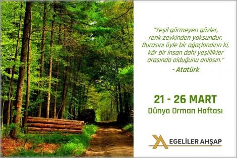 21 MART -26 MART Orman-haftası